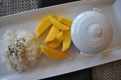 Mango and sticky rice in Thailand