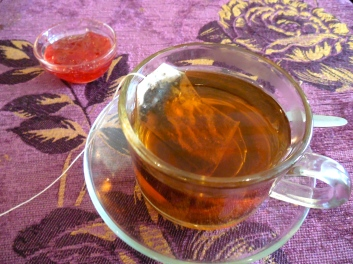 Russian tea with jam