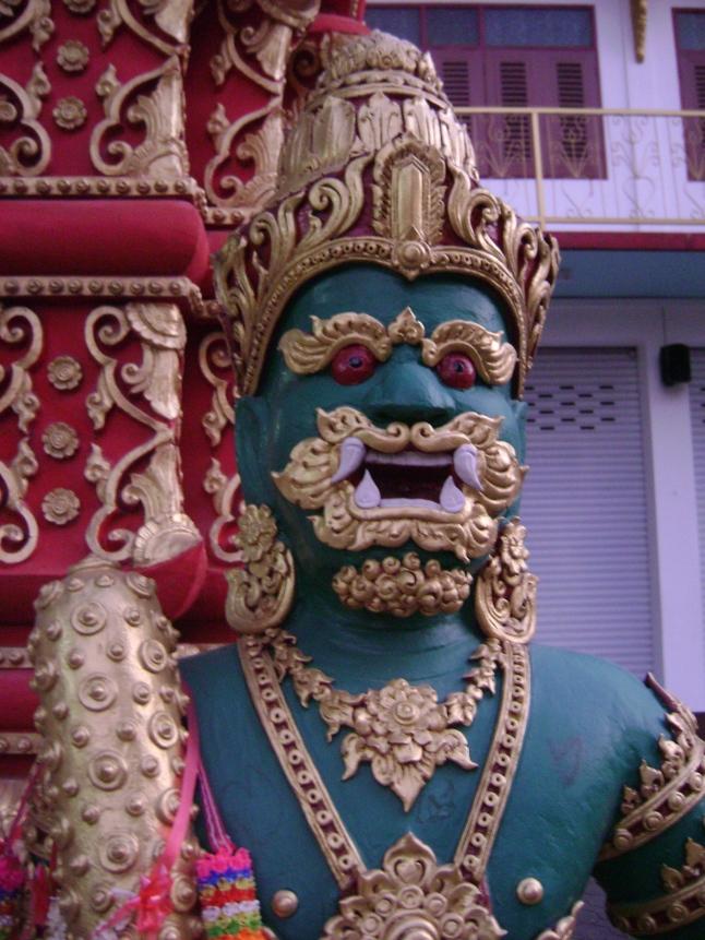 Thai temple, Buddhist guardian