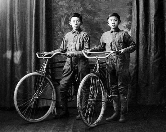 Japanese American Boys with bikes 1909. Source: University of Washington