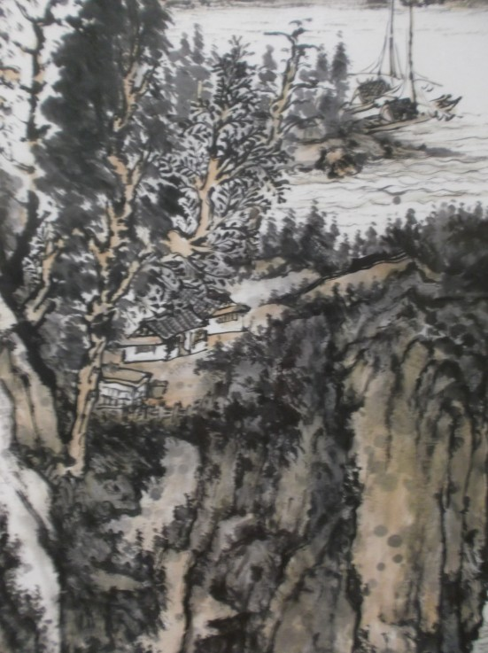 Landscape. Chinese Ink
