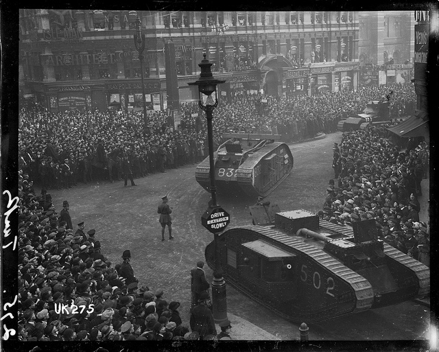 London, after WWI, 1918