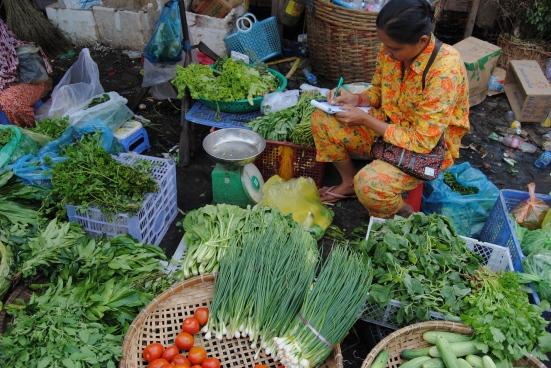 Fresh veggies in Cambodia