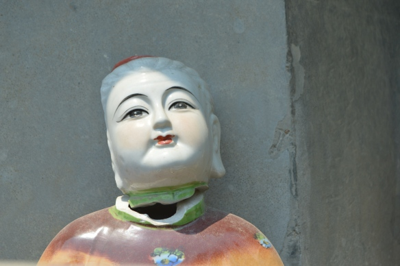 I find this quite disturbing. At Baoxing Temple, Wencheng