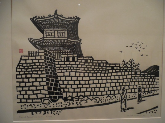Japanese Print of Seoul City Gate