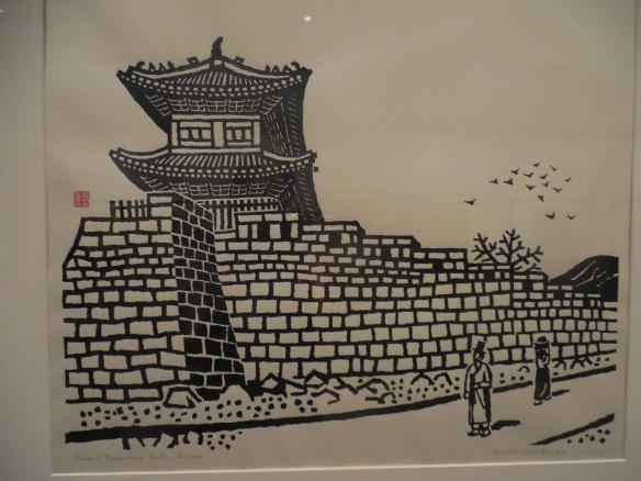 Japanese Print of Seoul City Gate