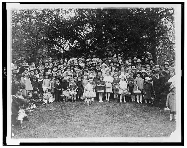 easter kids crowd