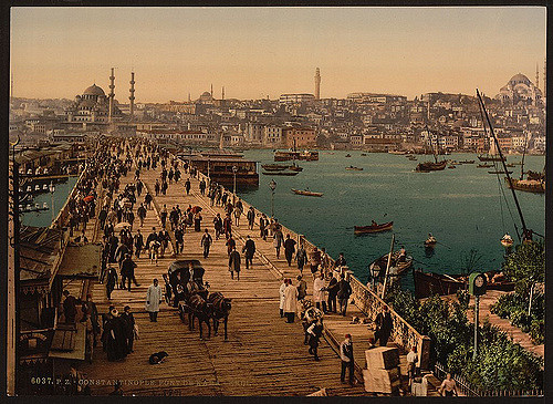kara keui galata bridge 1890
