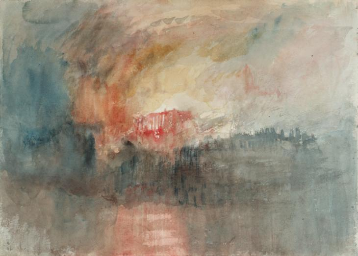 Fire at the Grand Storehouse of the Tower of London 1841 by Joseph Mallord William Turner 1775-1851
