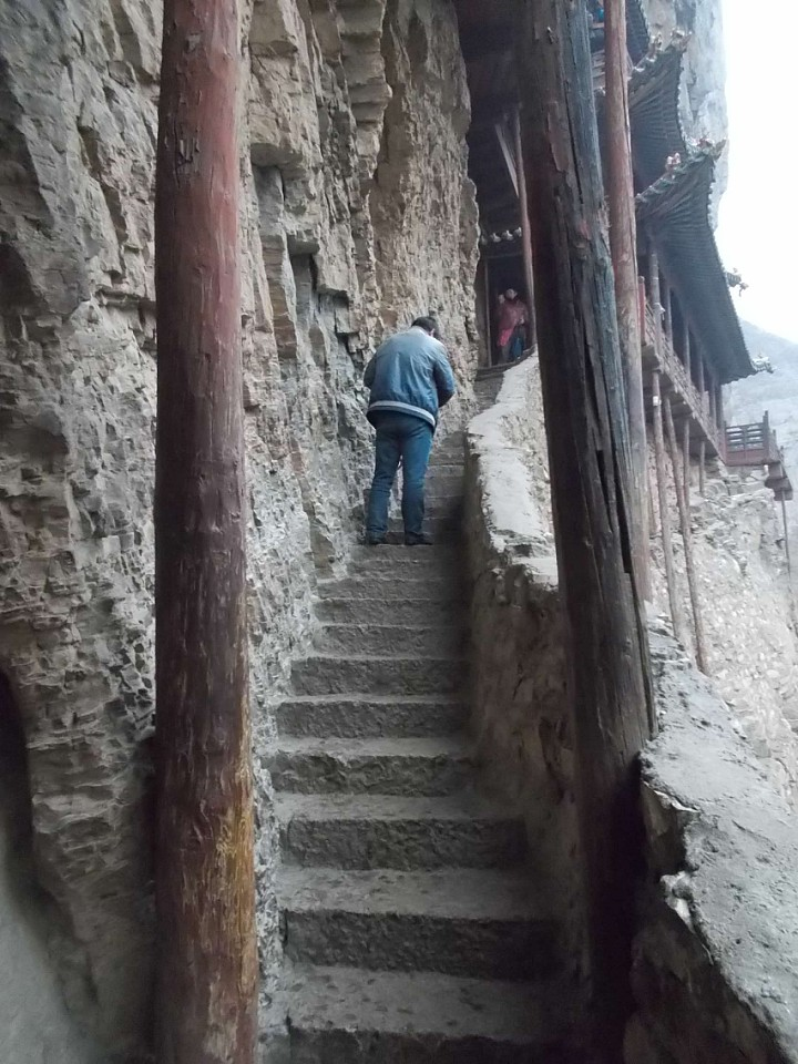 stairs hanging temple