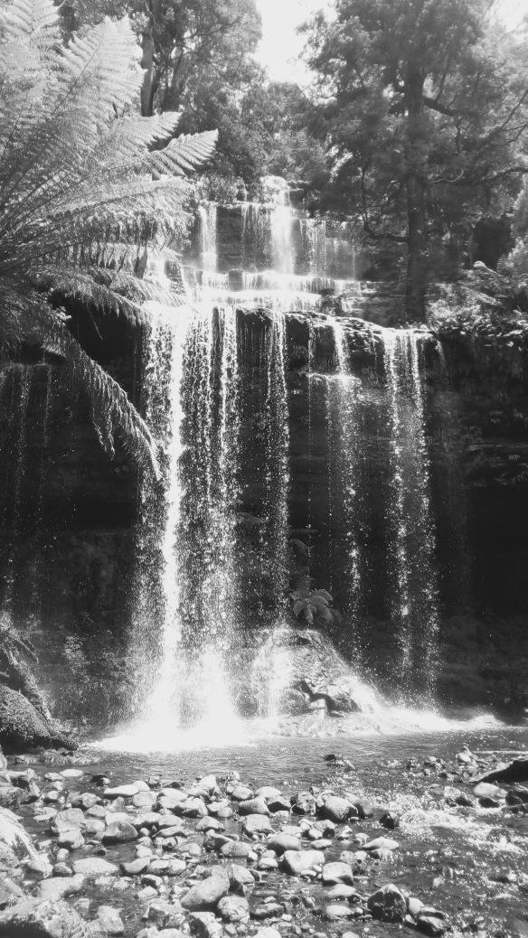 b w waterfall 1