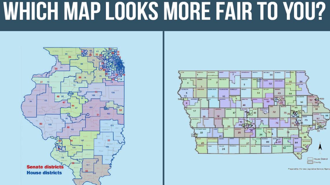 Iowa v IL Map
