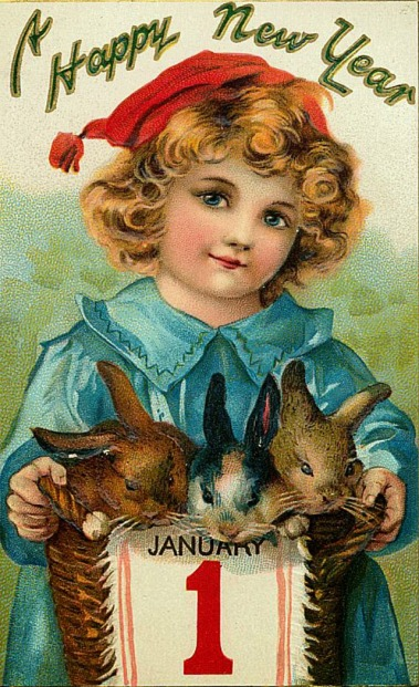 Cute Vintage New Year's Postcards (16)