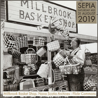 Sepia Saturday  485 : Theme Image - Millbrook Basket Shop