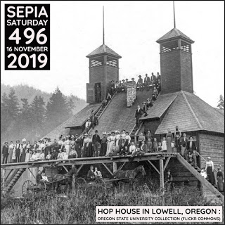Hop House In Lowell : Sepia Saturday 496 Header