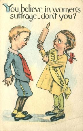 Don't believe in suffrage