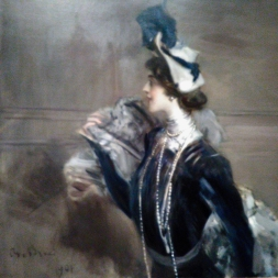 Lady with a Hat looking left