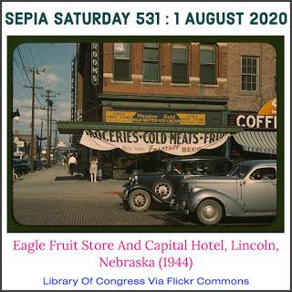 Sepia Saturday 521 Theme Image, Lincoln Nabraska in Colour